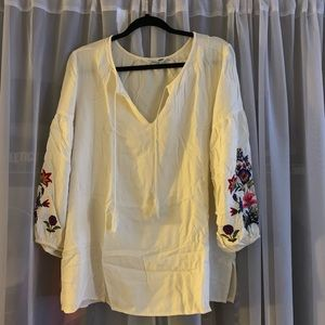 Old Navy Embroidered Tunic Shirt